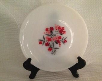 Fire King Primrose White LOVELY Dinner Plates SET of SIX (6)