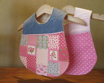 Baby Girl Bib - Set of 2 Boutique Bibs / baby shower gift for girls