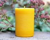 Our Original Yellow Beeswax Pillar CANdle, Minimalist Eco Friendly Decor