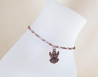 Copper Angel Anklet