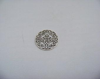 28mm Antique Silver Found Filigree   Finds2/3067