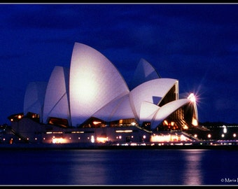 Sydney Opera House by Night 2003 - Sydney - Australia - Photographic Fine Art Print