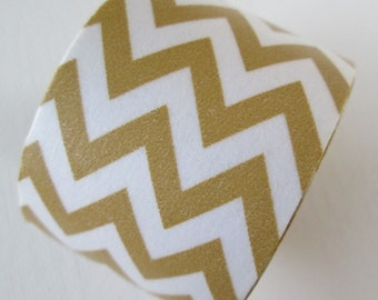 Washi Tape - Single Roll - Taupe and White Chevron - 30mm