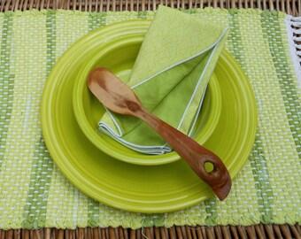 Handwoven Lemon Grass Placemat & Handmade Matching Napkin, Set of 1