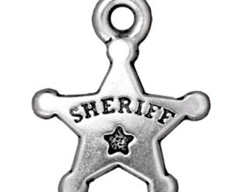 Sheriff Badge Charms Etsy