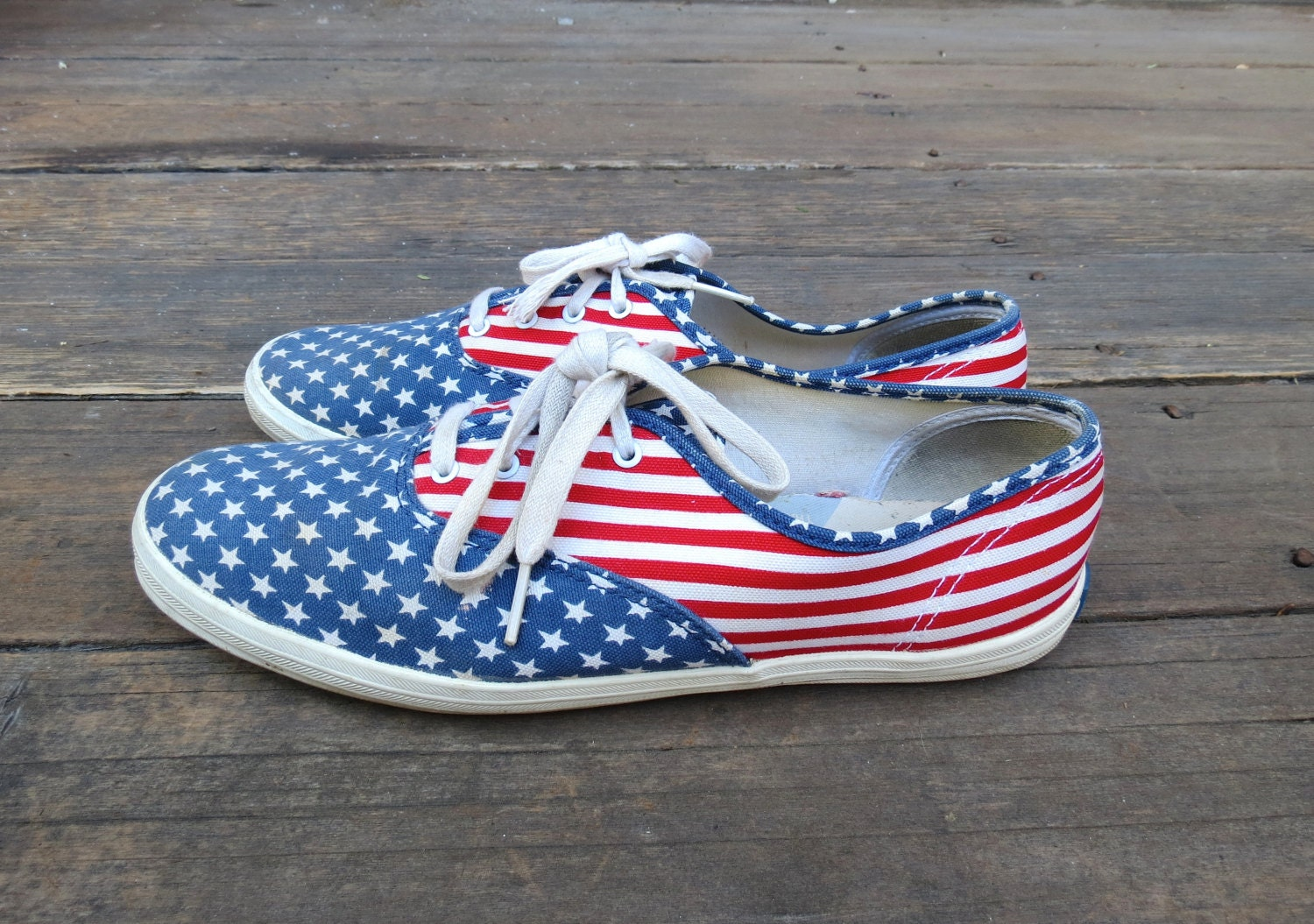 keds flag sneakers flats canvas tennis shoes size 10 rubber
