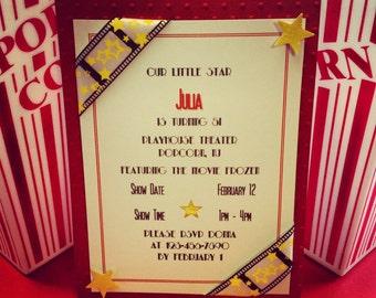 Hollywood Movie Theme Invitations