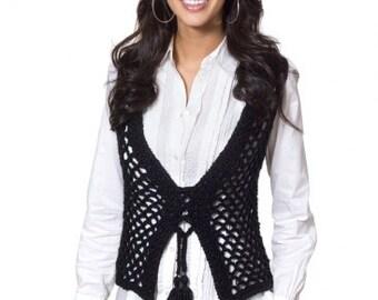 Hand Crocheted Vest, All Season Crochet Vest, Women's Vest, Crochet, Handmade, Acrylic, Made to Order, Custom