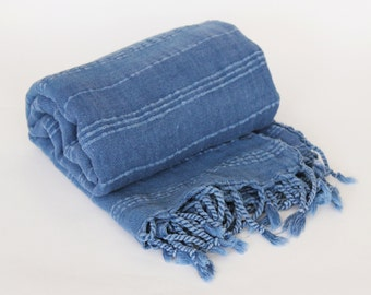 100% Micro Cotton Extra HIGH Quality Hamam towel beach towel hammam peshtemal Turkish Towel BLUE