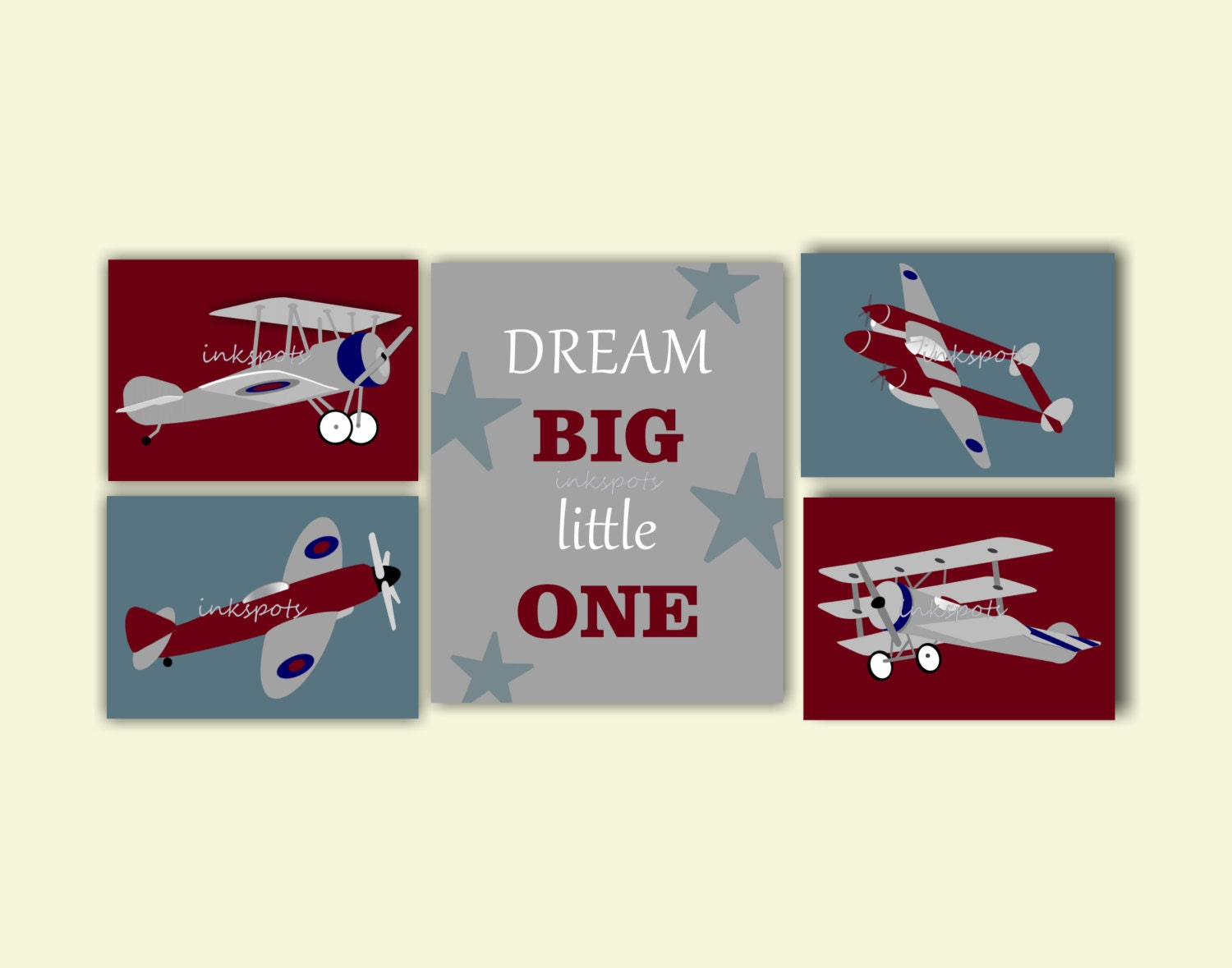 Vintage airplane airplane nursery art airplane prints dream Vintage airplane decor for nursery