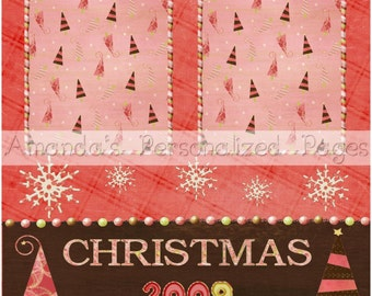 12x12 1-page Personalized Scrapbook  Paper (Christmas Confection)