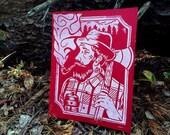 Lumberjack - Linocut Print \ Block Print