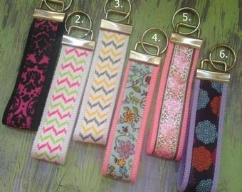 Key fobs, keychains, girly keychains, bow keychains, ribbon key fobs, ribbon keychains, cute keychains