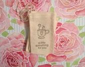 Hand Stamped Mug muslin bag - set of 12 - ThePaperShoppeCA