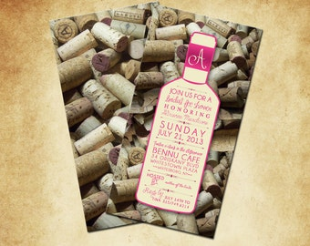 wine themed bridal shower  etsy, Bridal shower invitations