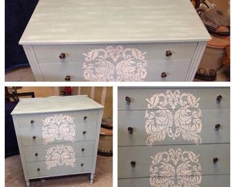 Blue Antique Dresser Painted Furniture Denver And Colorado Springs Vintage Furniture Colorado