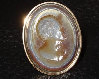 RARE Intaglio Ring 18th Century English  15K Gold