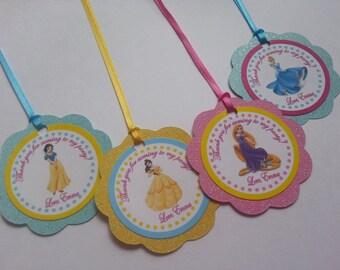 Disney Princess Favor Tags