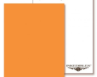 Inkedibles Premium Frosting ChromaSheets: 5 pack Letter Size (Pastel Orange/Peach)