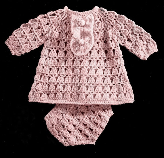 ADORABLE DRESS & PANTIES Babys Crochet Pattern by KenyonBooks