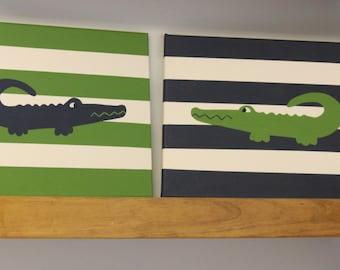 alligator nursery painting alligator madras alligator nursery decor alligator painting crocodile nursery wall decor alligator wall art decor