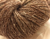 Alpaca Sock Yarn, Alpaca-Nylon Blend, Super-Soft, Natural Brown and White Color, 4oz, approx 400 yards