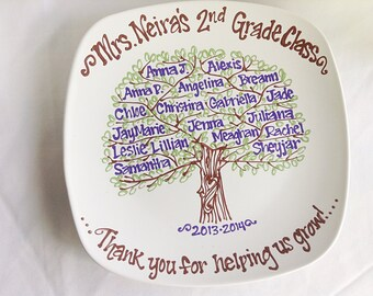The Original Teachers Appreciation End of School Year Graduation Class Gift Family Tree Class Tree Personalized Custom Name Plate