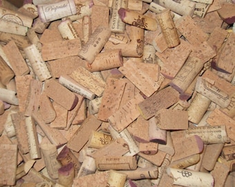 SALE 100 Pre-Cut Wine Cork Halves--Natural, No Synthetics, No Champagne Corks