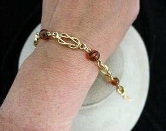 Vintage Signed Avon Glass Beaded Bracelet