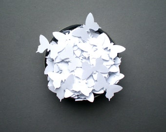 Wedding White Butterflies Confetti - Hand Punched, Joyful, Flying Decorations for Your Special Day