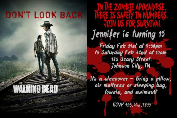 Zombie Birthday Party Invitations was awesome invitations sample
