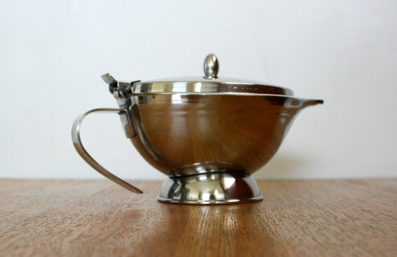 Stainless Steel Gravy Boat Double Wall Insulated Gravy Dish