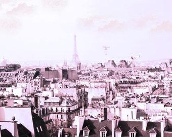 Paris Photography, Pink,  Eiffel Photography, Paris Photo, Pink Paris With Eiffel Tower, Paris Decor, French Decor, French Art, Pink Photo,