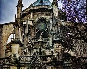 Paris Photography, Paris Art, Digital Art, Paris Photo,Notre Dame Photography,  Paris Photography, Wall Art, Blue Skies over Notre Dame