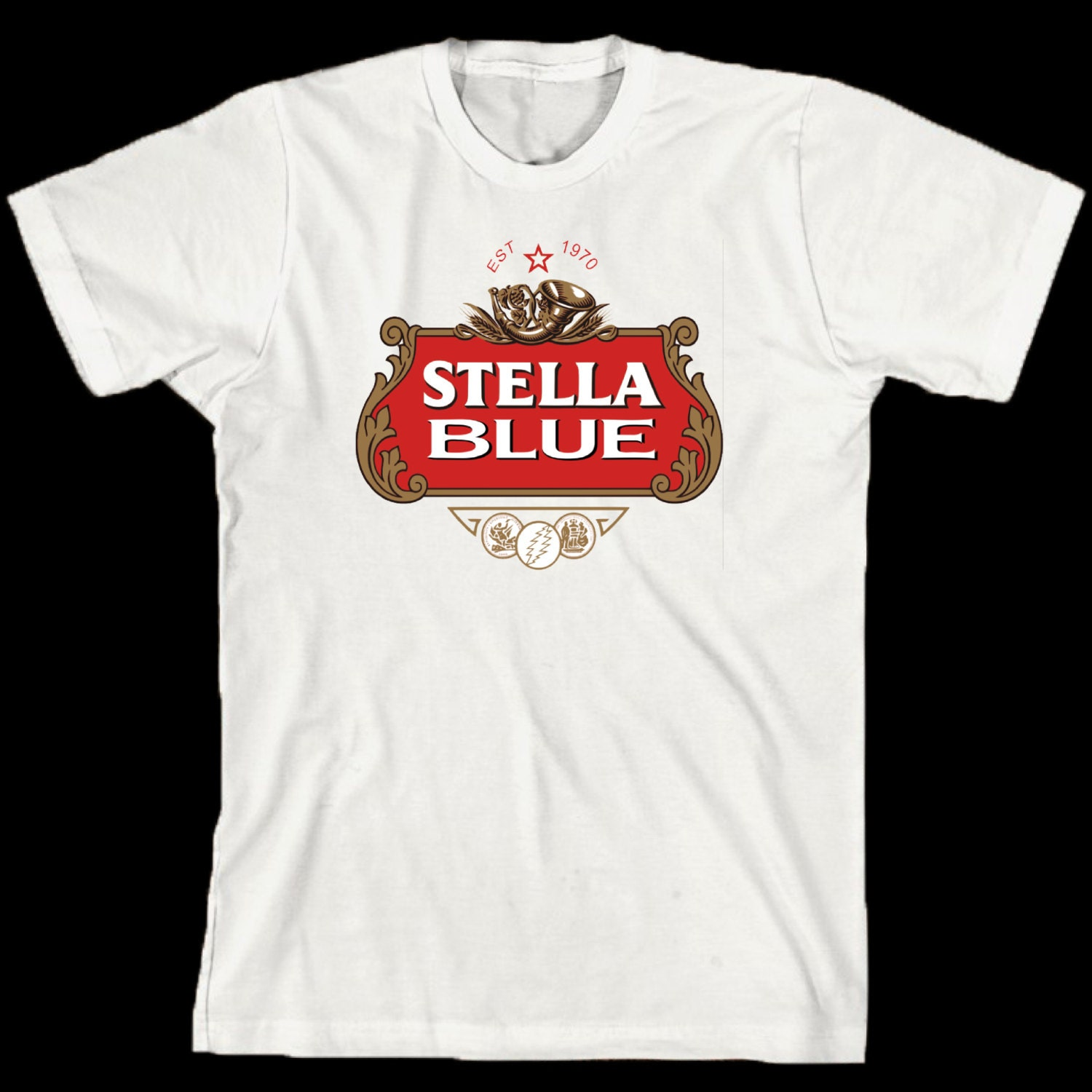 Grateful Dead T Shirt Stella Blue Lot Style Tee