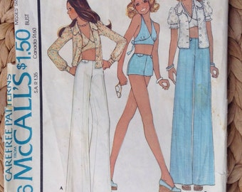 McCall's 4426 Misses' Blouse, Halter and Pants - Size 12 Sewing Pattern