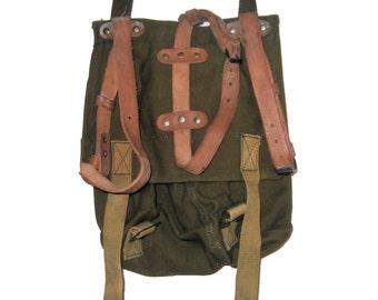 Vintage Military Khaki Army Bag