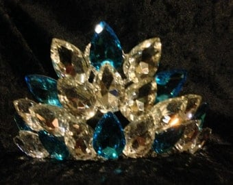 Turquoise and Clear Irish Dance Tiara