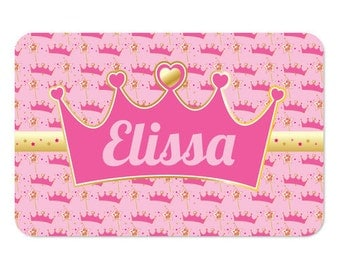 Princess Gifts, Gifts for Girls, Personalized Princess Placemat