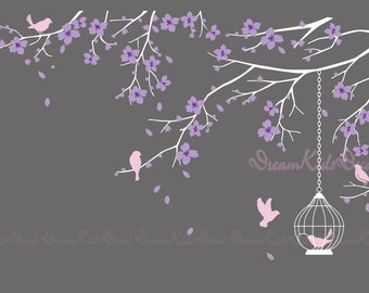 Tree wall Decal Wall Sticker Baby Nursery Decals-Cherry Blossoms Tree Decal-DK098