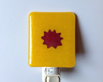 Sun, Yellow, Let the Sunshine In, Fused Glass, Night Light, Sunny Day