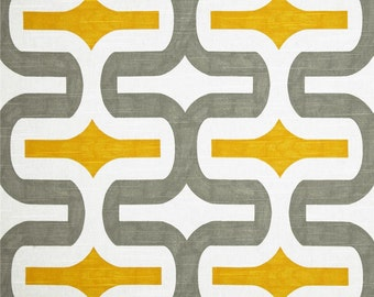 Upholstery Fabric by the YARD Geometric Embrace Corn Yellow Ash Grey Premier Prints home decor upholstery curtain pillow drape SHIPsFAST