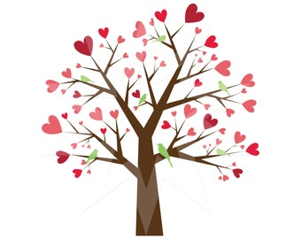Image result for heart tree clipart