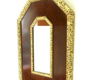 "34""Hx 24""W,Large Wall Mirror,Decorative Wall Mirror,Distressed Gold Leaf Mirror,WoodenMirror,Gold Framed Mirror,Wall Mirror Decorative"