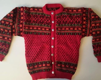 Norwegian Hand knitted Cardiagan