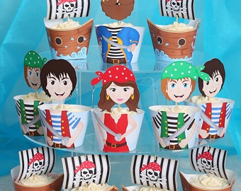 Pirate Cupcake Wrappers