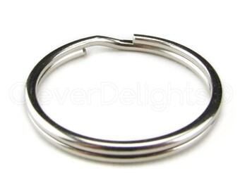 "100 Pack - 1"" Key Rings - 25mm Split Key Ring - Strong Key Chain Key Fob Ring - 1 Inch 25 mm - USA Seller"