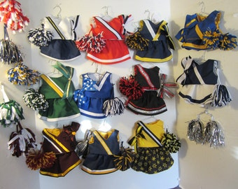 "Cheerleading uniforms for American GIrl dolls and other 18"" dolls"