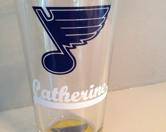 Personalized St. Louis Blues Pint Glass