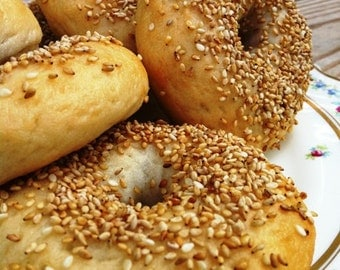 Gluten Free Bagels Sesame Seed - the thing, chewy & delicious!